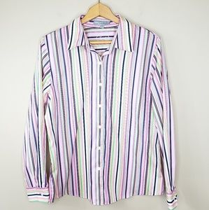 Foxcroft | Wrinkle Free Shaped Fit Striped Shirt